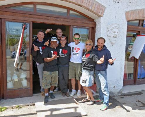 Titolari e staff di Argentario Divers