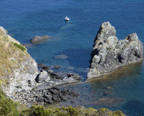 Scorcio della costa elbana
